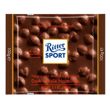 Ritter-Chocolate-Negro-con-Avellanas-.-Chocolate-.-100-grs---Frontal