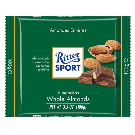 Ritter-Chocolate-con-Almendras-.-Chocolate-.-100-grs---Frontal