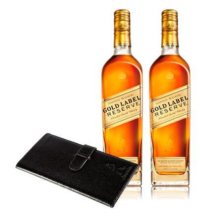 2-Johnnie-Walker-Gold-Label---Portadocumento-Exclusivo-.-Blend-.-2-x-750-ml---Botella