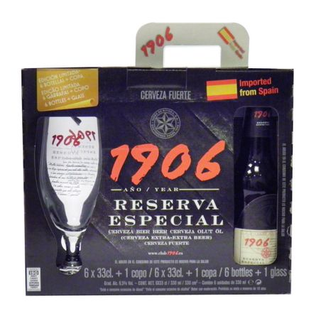 Premium-1906-.-Botella-.-Pack-x-6---Copa-de-regalo-.-2-Pack-x-6-de-330-ml-Producto