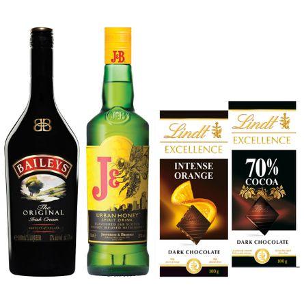 Pack-Honey-Cream--2--Dulzura-Whisky-J-B-Honey---Baileys---2-Chocolates-Lindt-Producto