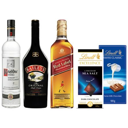 Pack-Fin-de-Semana--2--Poderoso-Johnnie-Walker-Red-Label---Baileys---Ketel-One---2-chocolotes-Lindt-Producto
