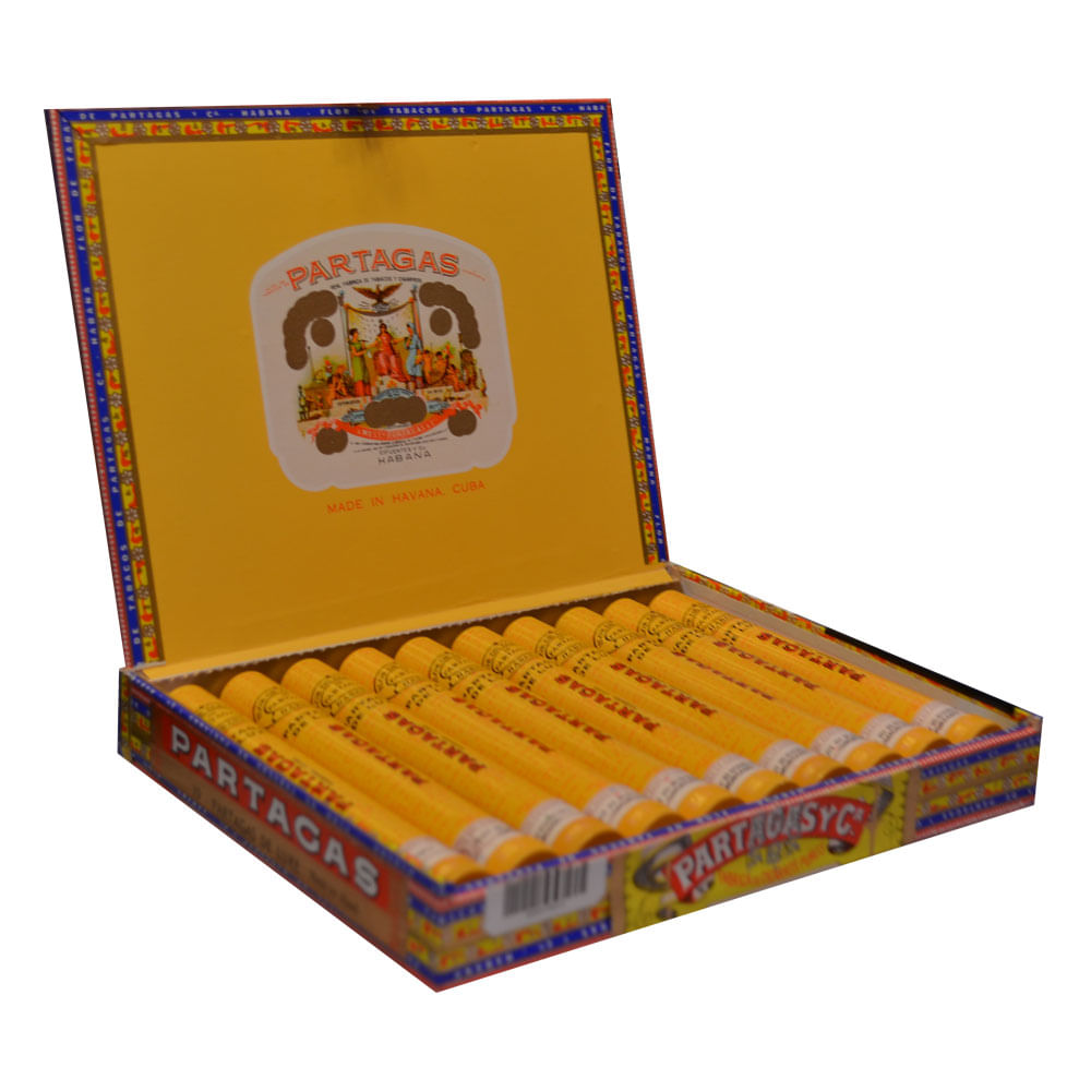 CIGARRO-.-PARTAGAS-DE-LUXE-TUBOS-MANO-x-10-.-Pack-Pack