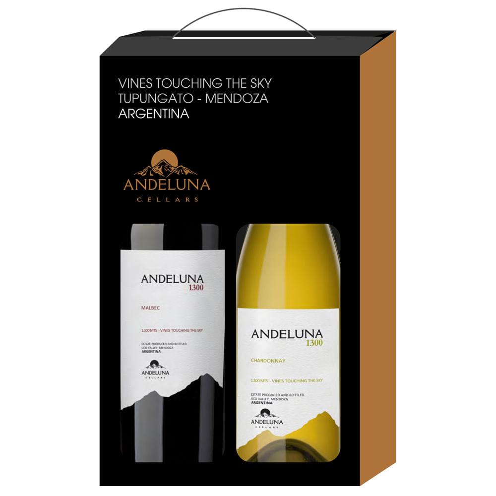 -SALE-.-Andeluna-1300-.-Estuche-Malbec---Chardonnay-.-2-Botellas-De-750-Ml-Botella