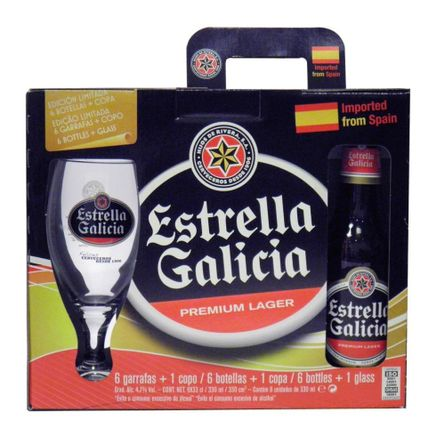 Estrella-de-Galicia-.-Botella-.-Pack-x-6---Copa-de-regalo-.-2-Pack-x-6-de-330-ml-Producto