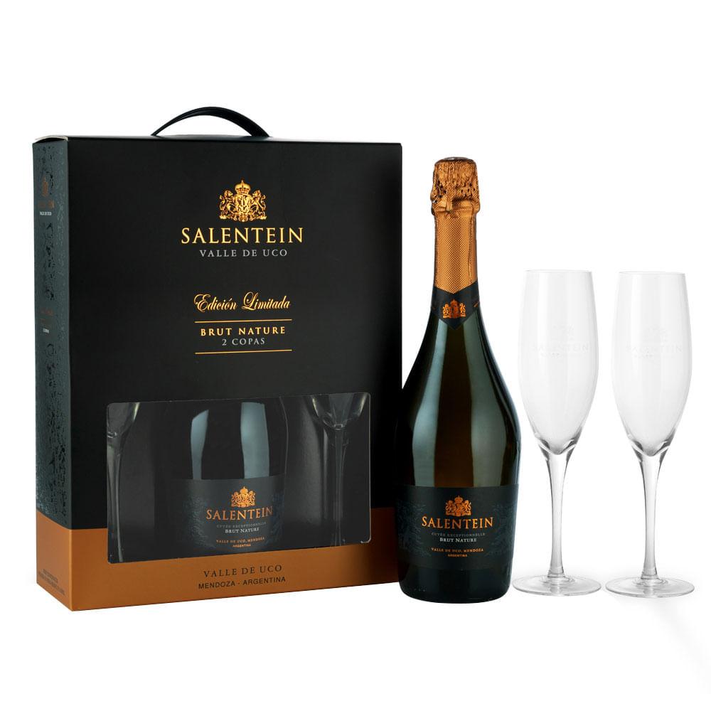Estuche-Salentein-Brut-Nature.-750-ML.---2-copas-Botella