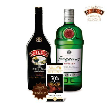 Pack-Baileys---Tanqueray-Dry-Gin---Chocolate-Lindt-de-Regalo-.-2-x-750-ml--MasBaileysMenosCliche